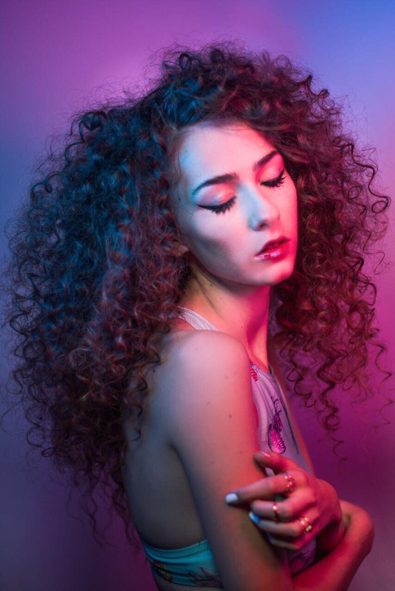 Model Beauty Studio Shot Portrait Odetograce Neon TheWeekOnEyeEM This Week On Eyeem