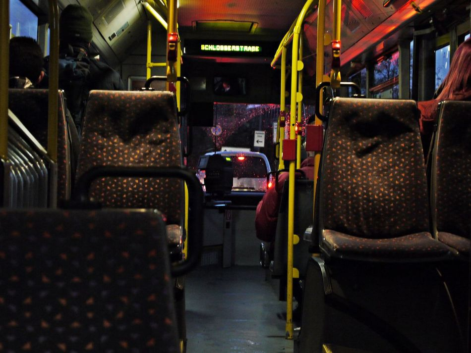 City Bus Day Indoors  No People Seat Transportation Vehicle Interior Vehicle Seat