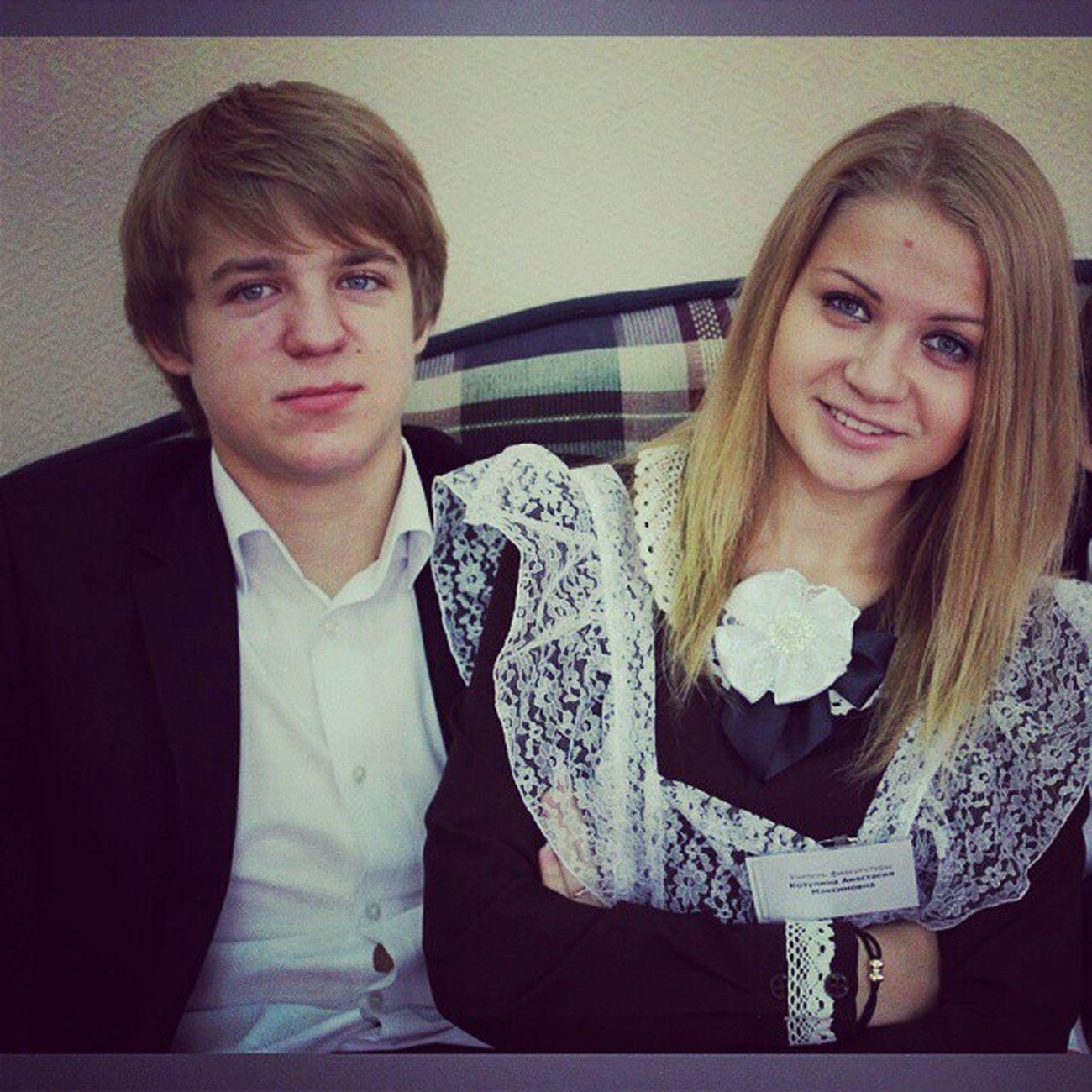 Андрюха (когда-то говорили, что мы как брат с сестрой) директор физрук деньучителя  ШкольныеБудни
