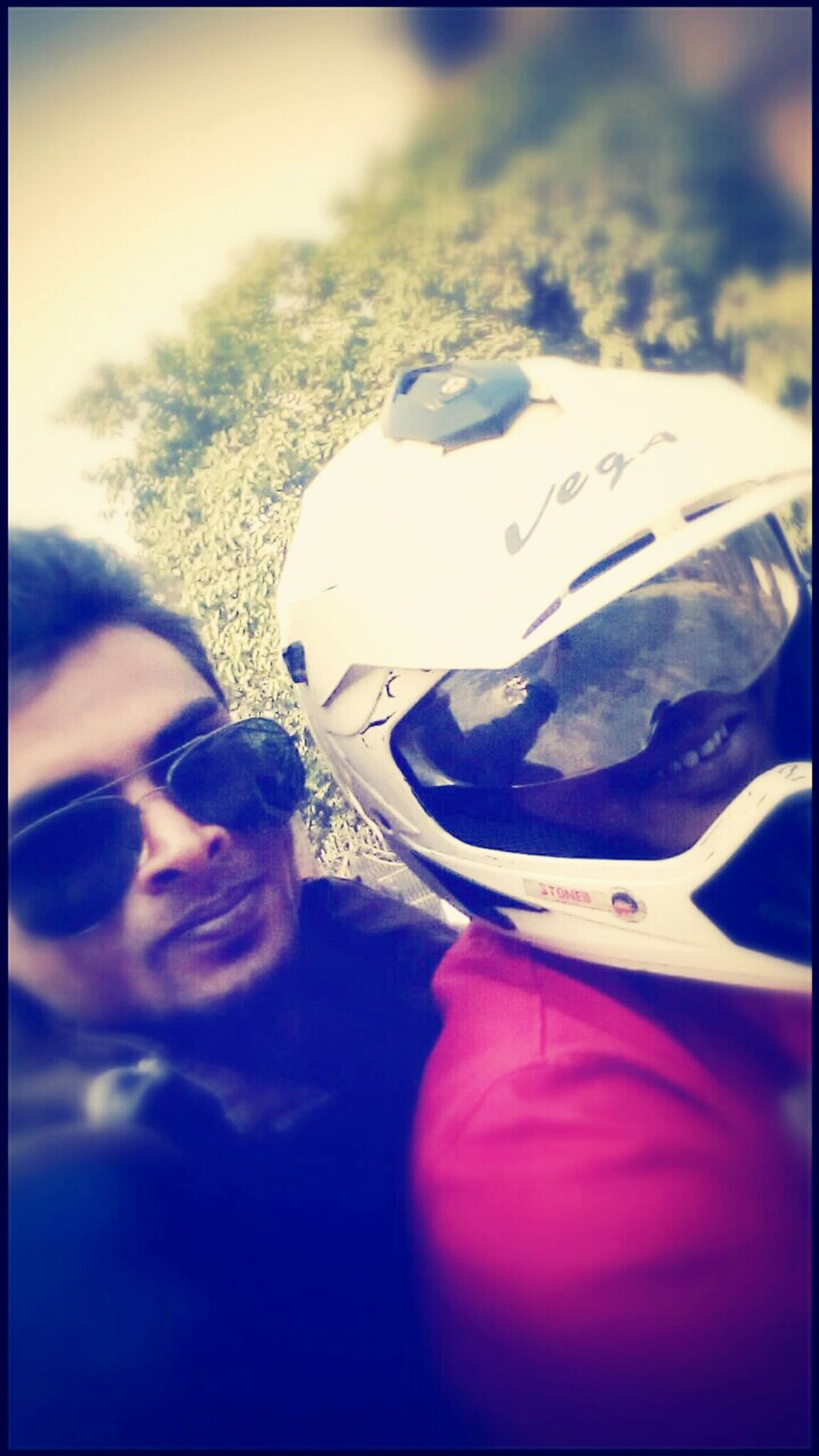 The bike riders' selfie ? Check This Out That's Me in the Helmet ?full Bakchodi ??