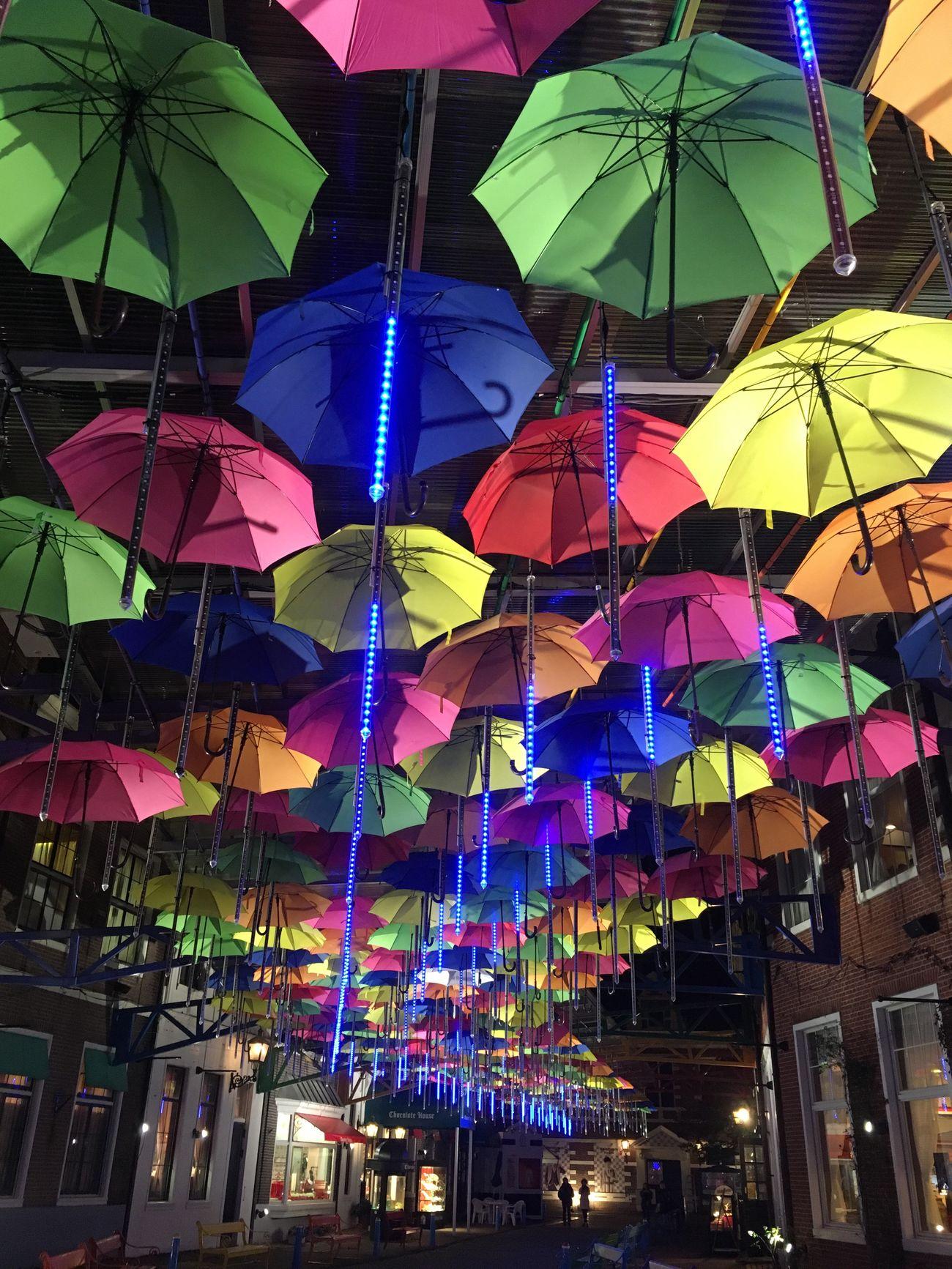Umbrellastreet Umbrella Street Colorful Colors Colour Of Life Night Vitamin Color Colorfull Multi Colored Beautiful Illuminations Illuminated Built Structure Huis Ten Bosch Nagasaki Kyusyu Japan Japan Photography