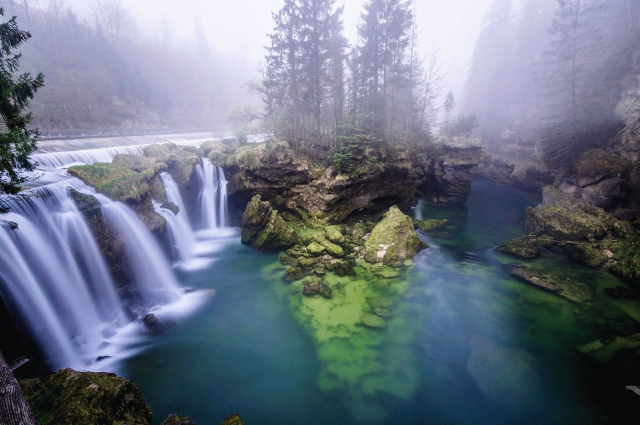 TRAUNFALL / Upperaustria Water Nature Scenics Beauty In Nature Waterfall No People Idyllic Outdoors Long Exposure Fog Landscape Upperaustria Nikonphotography Nature Beauty In Nature Austria Natural Beauty Naturelovers Austria ❤ Outside Photography