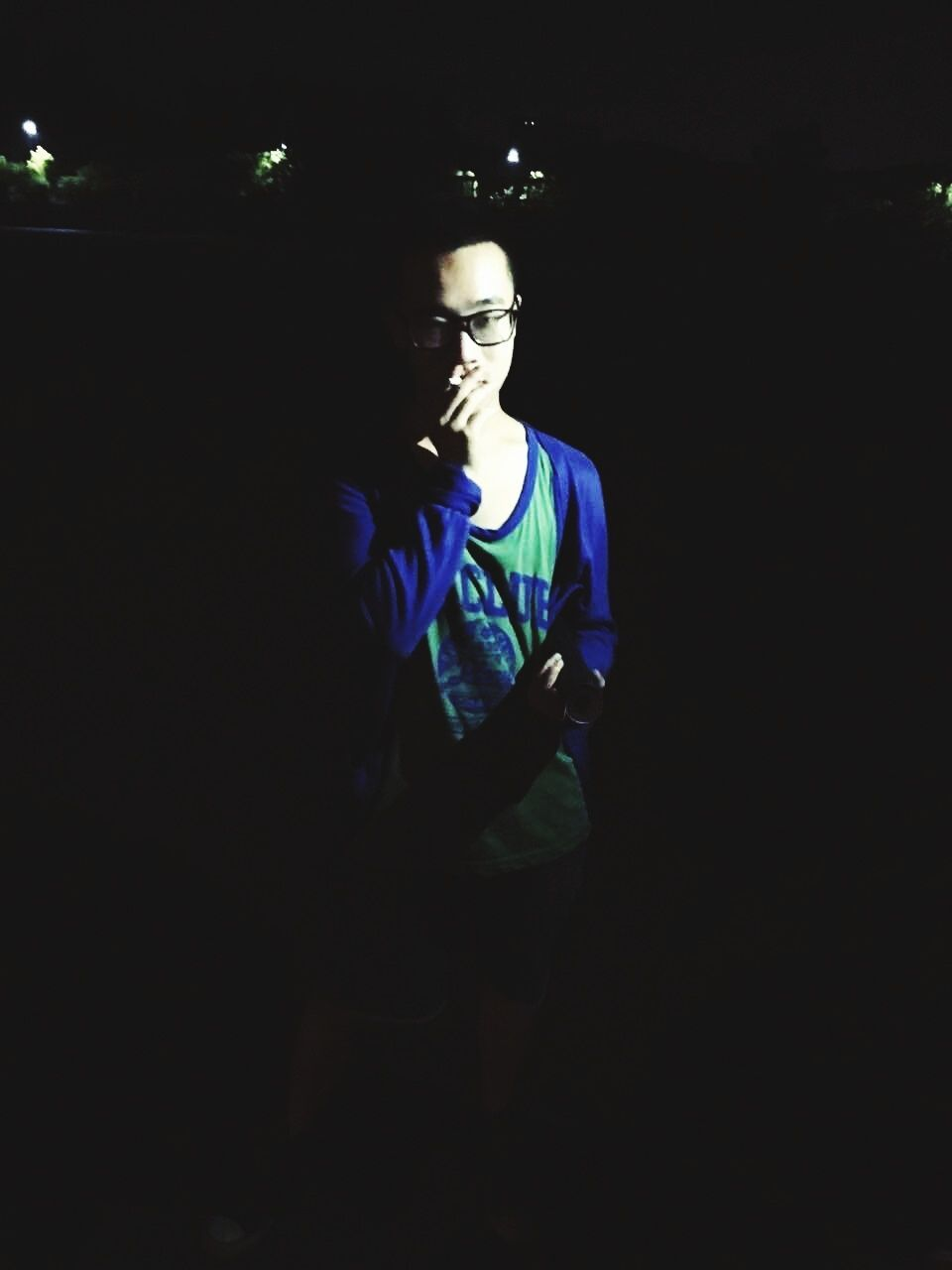 dark, indoors, one person, night, men, standing, illuminated, one man only, people