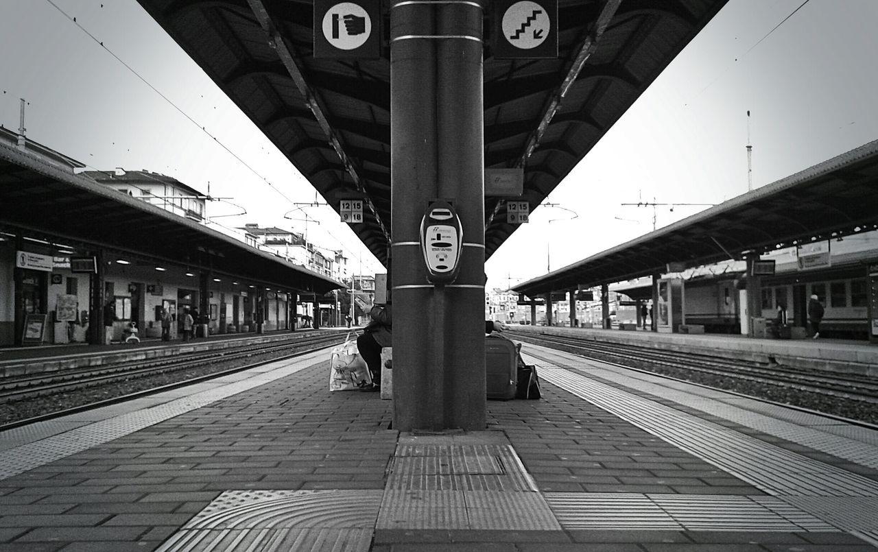 View Of Empty Railway Station Platform