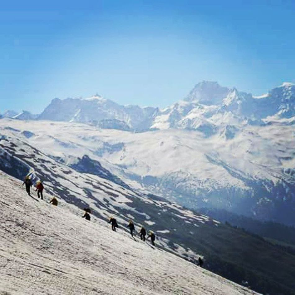 Summit - Balachandra Peak Onaroughday Sun Refraction Snow Pirpanjal Manali