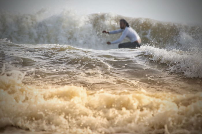 Surfing Board Surfing Beauty In Nature Morning One Person Adventure Motion One Man Only People Speed Surfing Adult Day Sport RISK Wave Outdoors Extreme Sports One Young Man Only Lifestyles EyeEm Ready
