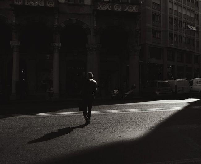 Street Photography City Man Black & White