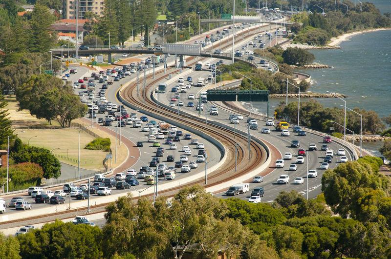 Highway Traffic Australia Perth Traffic Car Highway Traffic Road Transportation