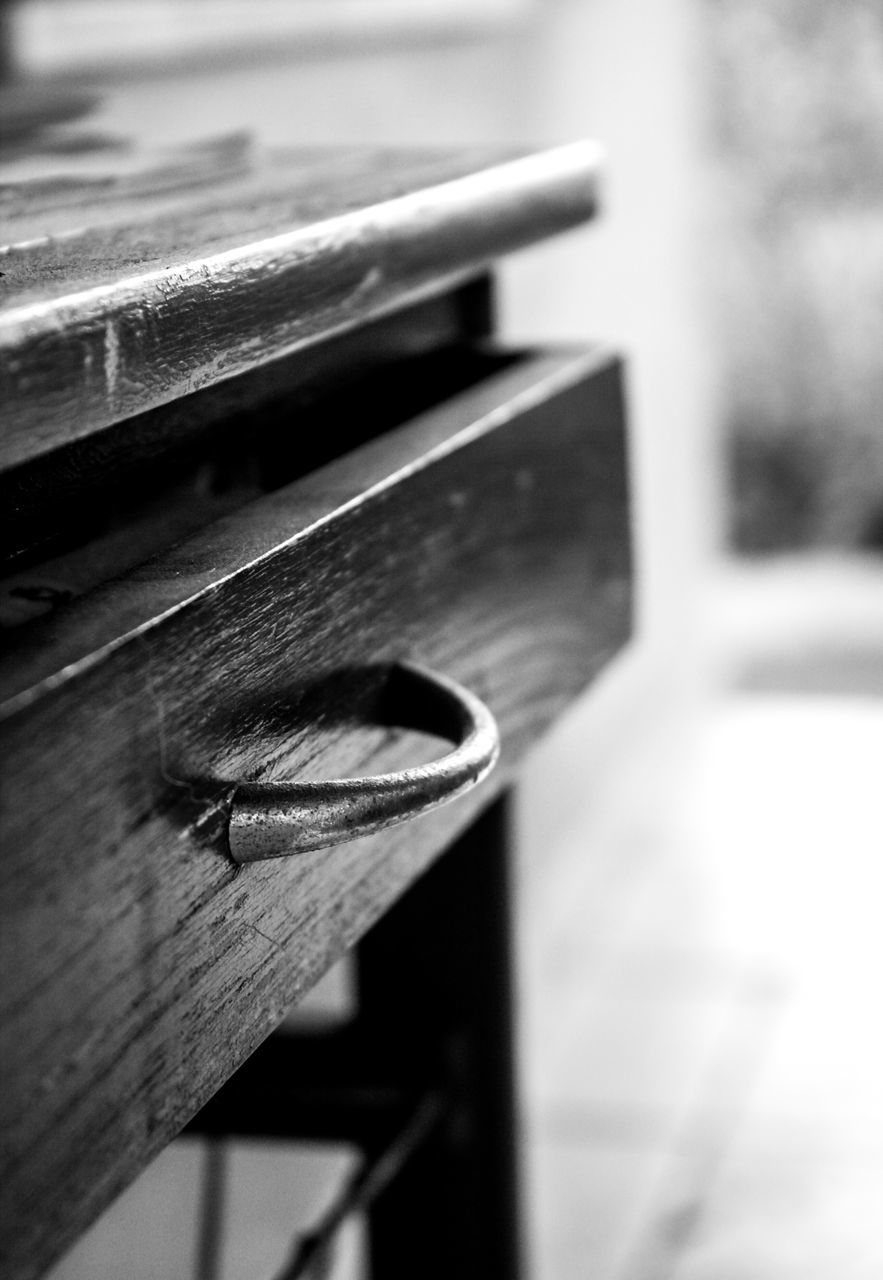 Close-Up Of Wooden Drawer