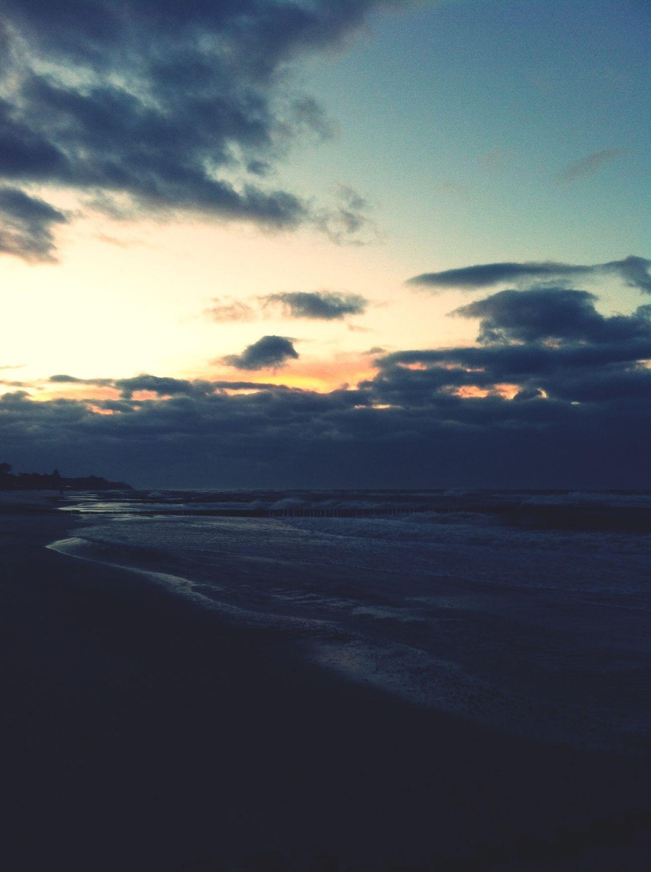 Sea Clouds And Sky