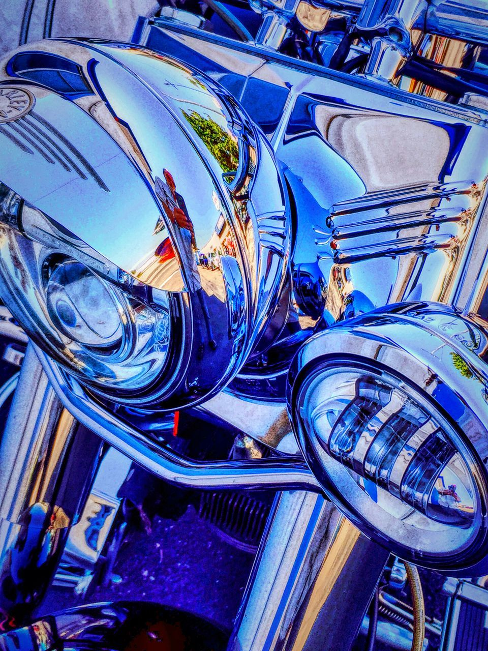 transportation, mode of transport, land vehicle, car, retro styled, blue, old-fashioned, stationary, day, outdoors, close-up, no people, vehicle part