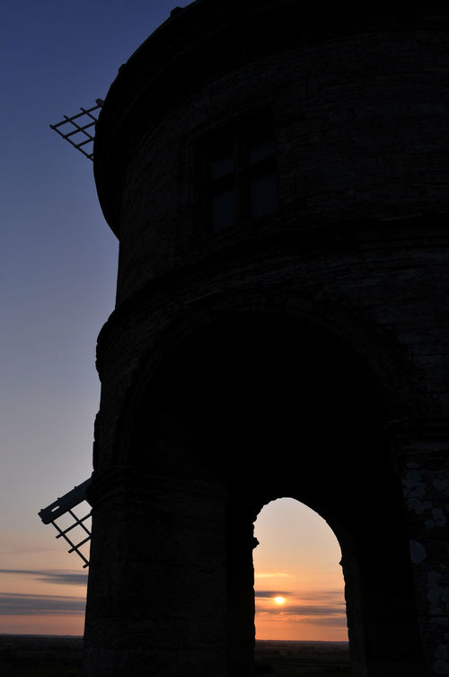 17th Century Architecture Archway Building Exterior Built Structure Chesterton Windmill Day Low Angle View No People Outdoors Silhouette Sky Stone Building Sunset Uk Warwickshire