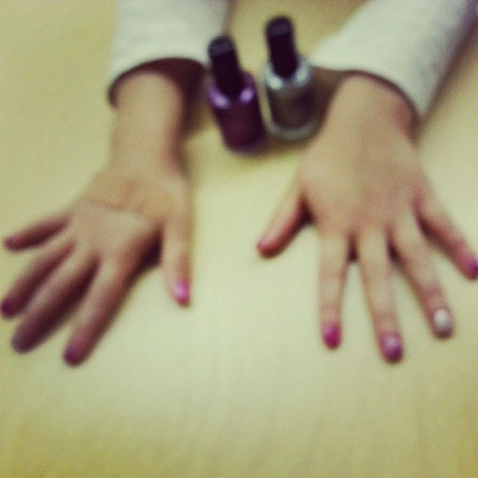 Nail day with my little princess Laya ILoveMyStudents