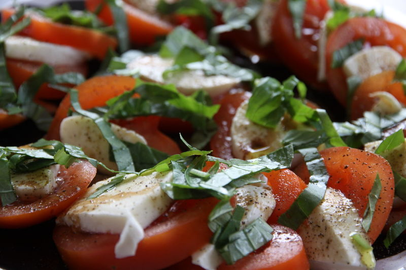 Caprese salad, my favorite Italian salad in the colors of the Italian flag. Ingredients: tomatoes, mozzarella cheese, basil leaves, balsamico, olive oil and salt and pepper Food And Drink Foodie Caprese Salad Caprese, Salad, Basil, Cherry Tomatoes, Mozzarella, Ovoline, Cheese, Shape, Fun, Mobile Shot, Playing With Food, Leaves, Herb, Vegetables, Food, Nobody, Overhead, Plate, Textures Close-up Delicious Food Food And Drink Food Photography Food Porn Foodphotography Foodporn Foodstagram Freshness Healthy Healthy Eating Healthy Food Healthy Lifestyle Indoors  Italanfood Mozzarella No People Ready-to-eat Salade Caprese Tomato