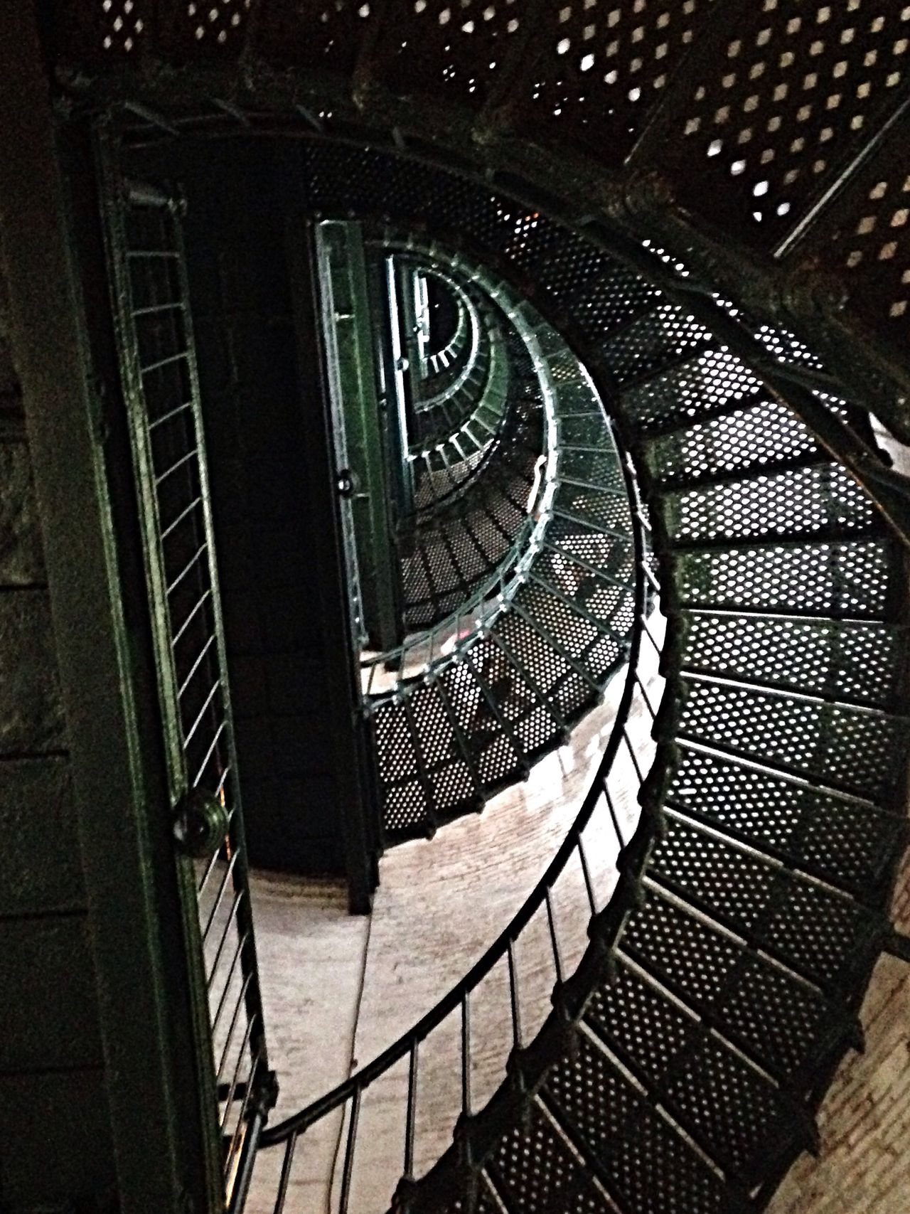 Looking up in the Currituck Beach Lighthouse. OBX14 North Carolina Lighthouse
