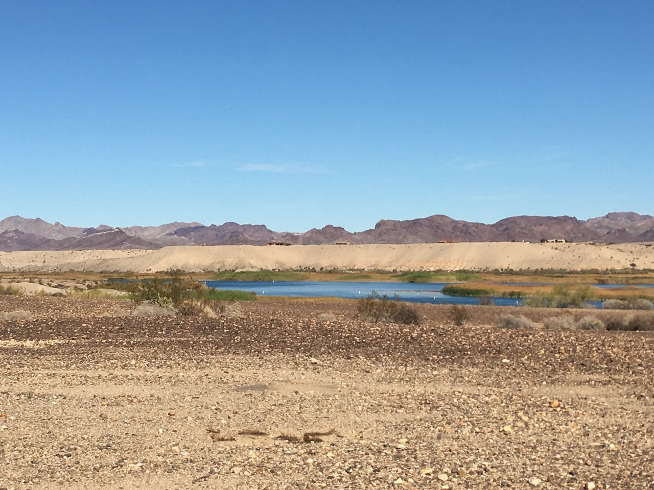 Mountain Range Desert Clear Sky Arid Climate No People Sand Water Landscape Scenics Nature Day Tranquil Scene River Mouth Wilderness Area