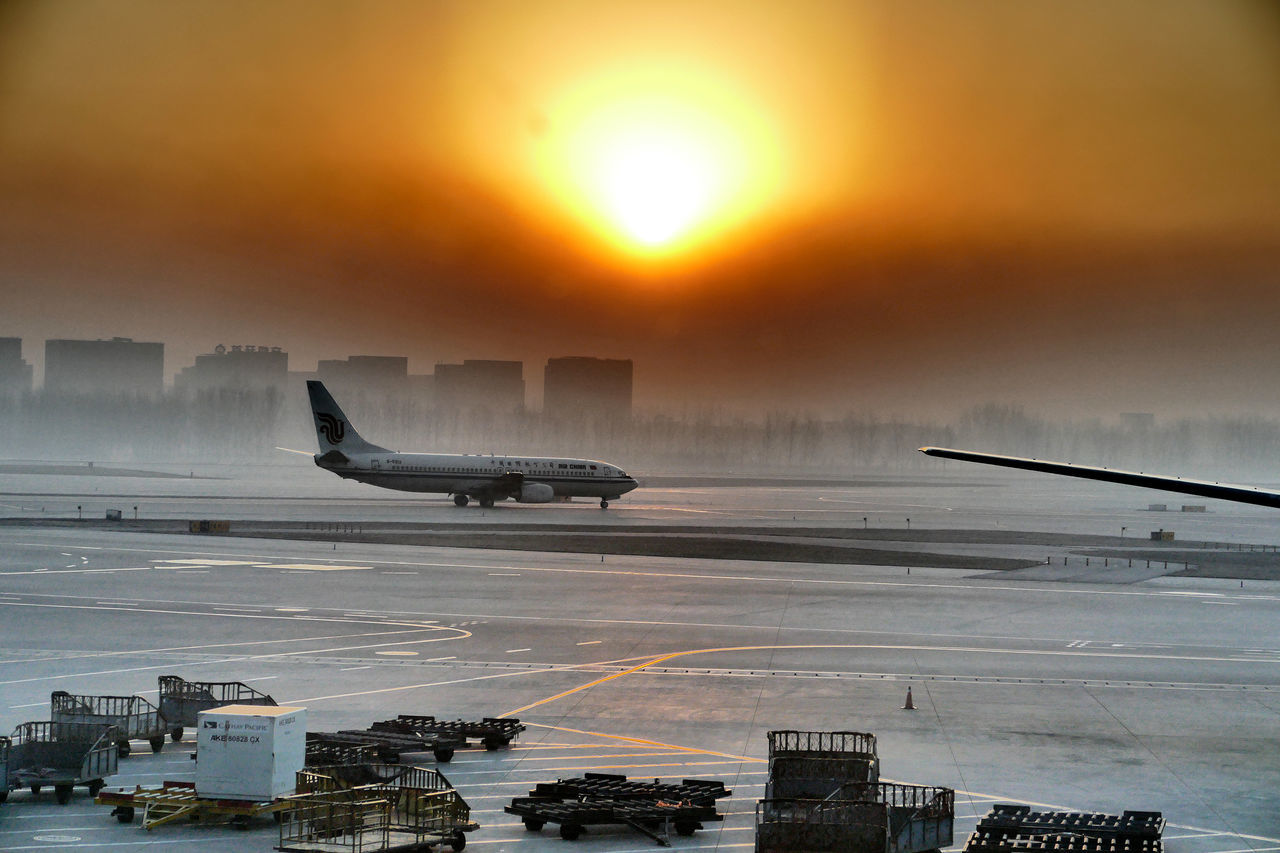 Airport Beijing Air China Air China Building Beijing Airplane AirPlane ✈ Airport Peking Airport Runway Beijing, China Bejing China China Airport Day No People Plane Sky Sunrise Transport Travel Destinations Travel In Asia