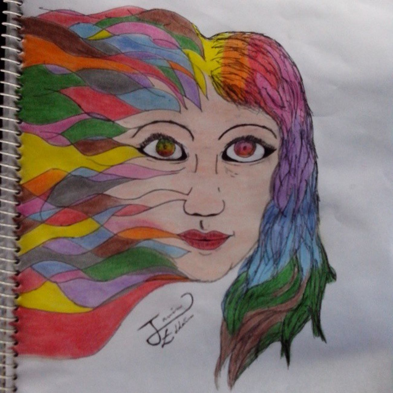 Girl Art. Art Draw Sketch Intaart Colors Abstract Dibujo Colores Chica