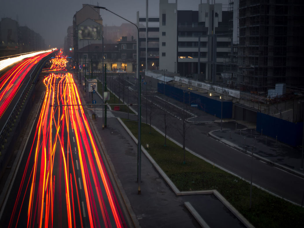 Escape from the future Bridge Bridge Night Light Building Car Light Trails Car Lights City City City Scape City Street Cityscape Fraffics Illuminated Light Trail Luce Milano Night Lights Night Photography Night View Nightlife Nightphotography No People Traffic Traffic Jam Traffic Lights Traveling Home For The Holidays