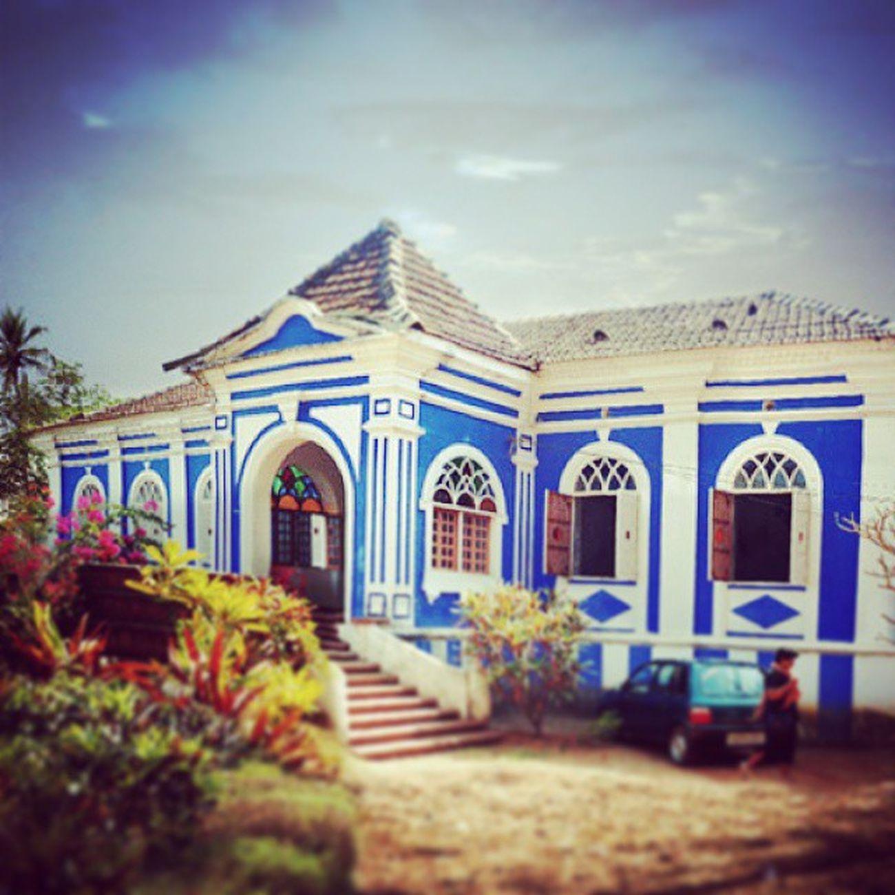 PickMyGoaPic Blue Villa PortugueseVilla HeritageHouse ClassicArchitecture Anjuna Goa GoaBeyondBeaches