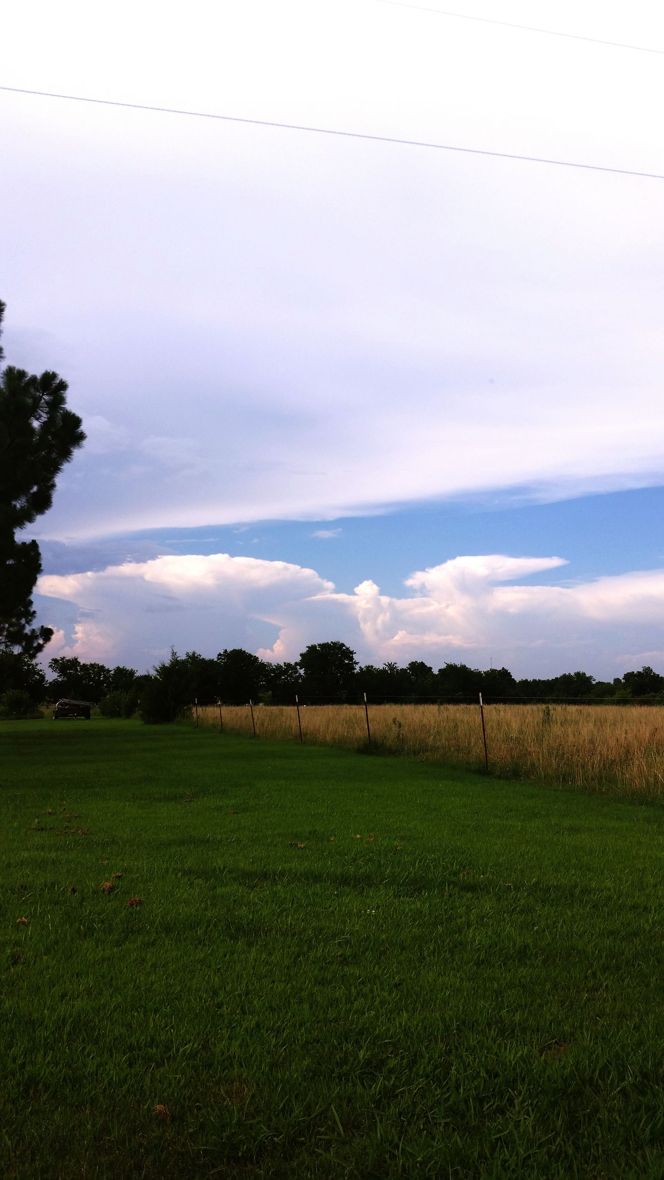 Countryside Pasture Big Clouds