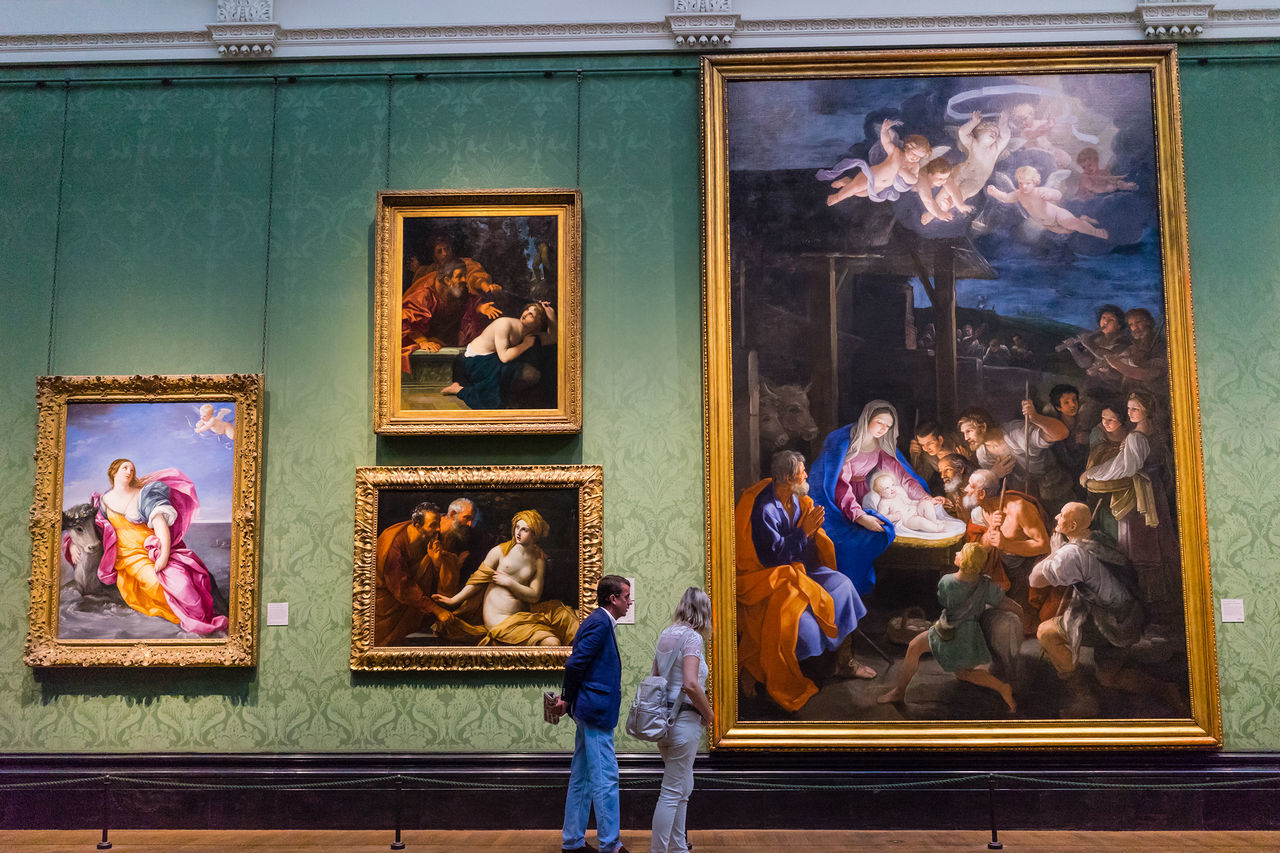 Inside National Gallery, london. Europe Exhibition Indoors  National Gallery  National Gallery Of Art Painting Paints People Arts Display London City Life