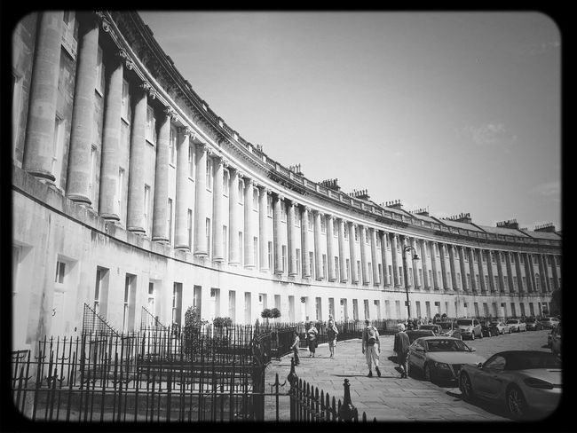 Royal Cresent, Bath Sightseing Streetphoto_bw