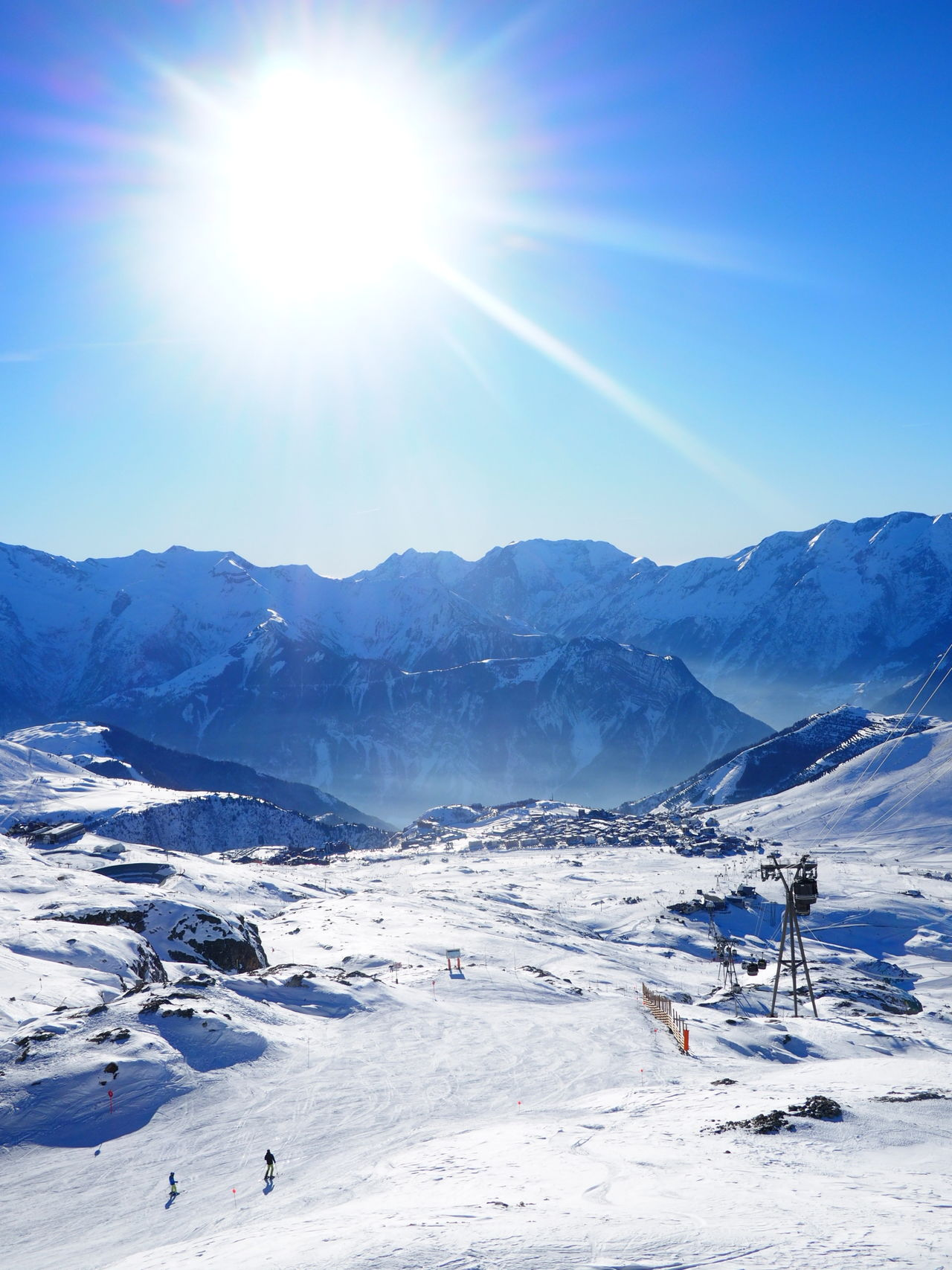 Beauty In Nature Cold Temperature Day Landscape Mountain Mountain Range Nature No People Outdoors Scenics Ski Ski Resort  Skiing Sky Snow Snowboard Snowboarding Snowcapped Mountain Sun Sunbeam Sunlight Tranquil Scene Winter Winter Sport Winter Sports