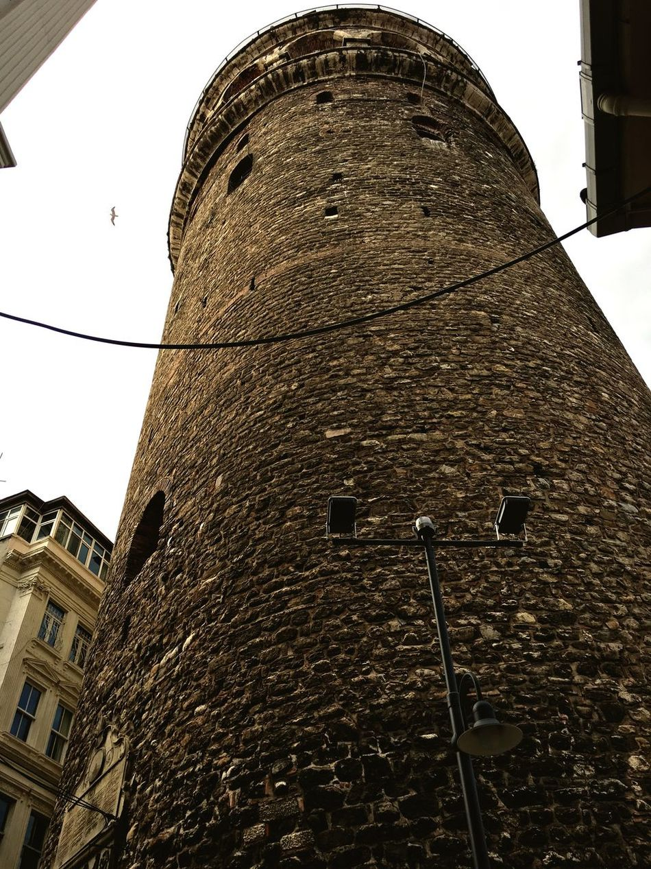 Istanbul Galata Tower Karaköy Istanbul City Europe Continent Architecture Building Exterior Low Angle View Built Structure Window No People Tower Sky Outdoors Religion Day History Historical Building Smell Of History Ottoman Style