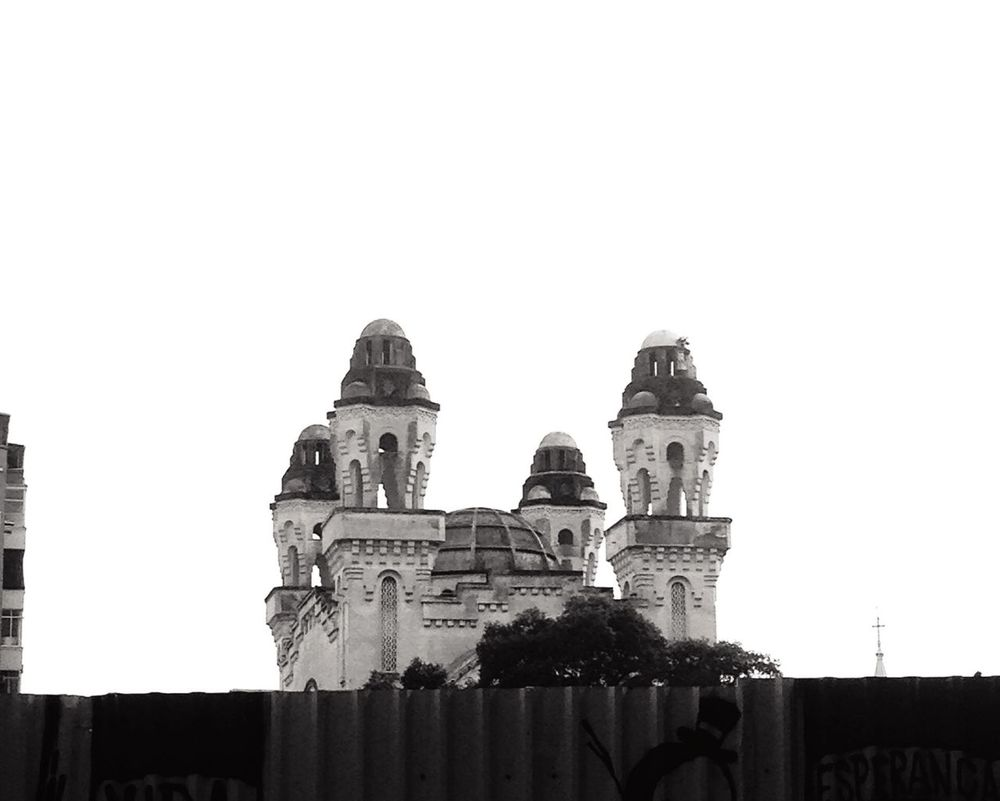 Monochrome Photography Sinagoga Iphone 5 Rio De Janeiro 021rio 021 Architecture Copy Space Clear Sky History Dome Photoblackandwhite Brazilinfoco Built Structure Low Angle View Building Exterior Outdoors Day The Past Historic Building Tall - High High Section Famous Place No People