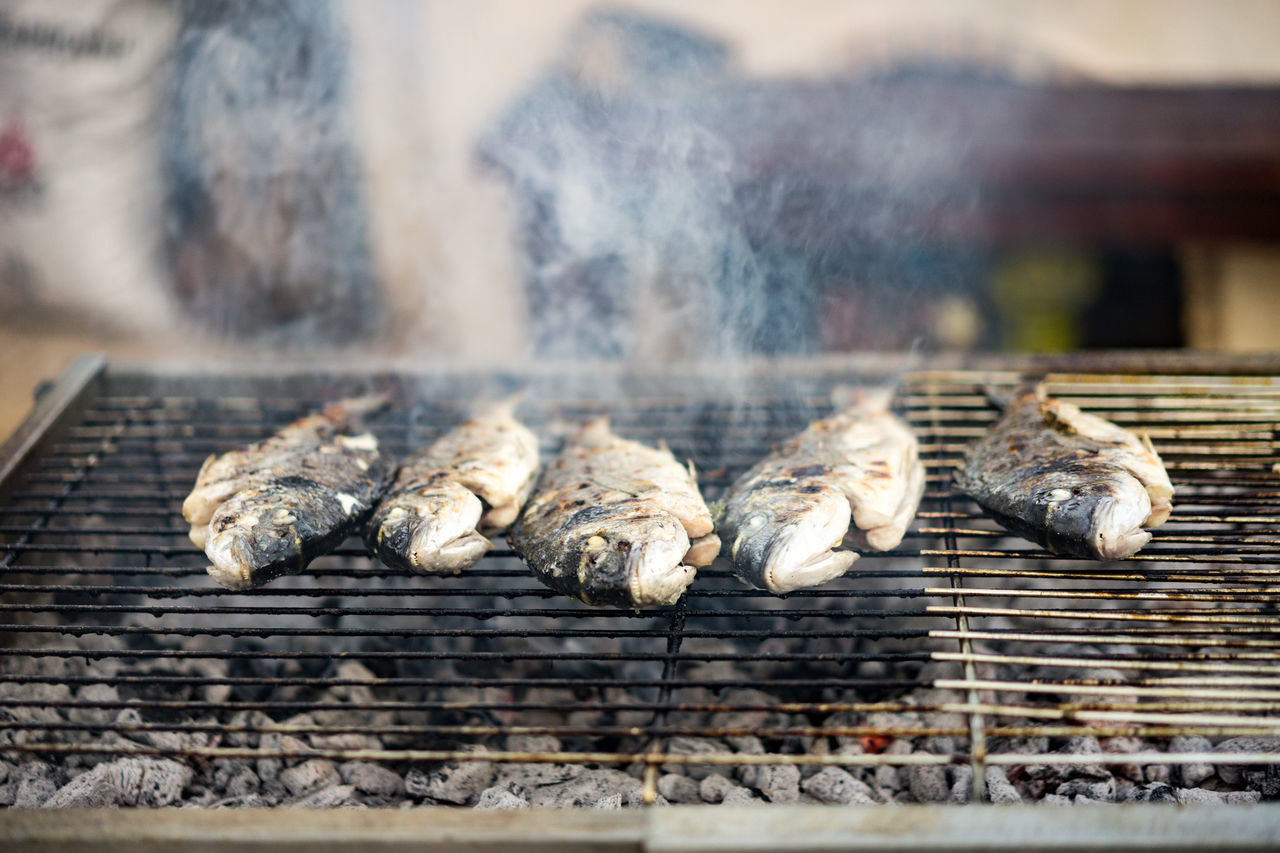 mmh fish on Grill BBQ Time Greek Barbecue Grill Fish Food Food And Drink Freshness Grilled Healthy Eating