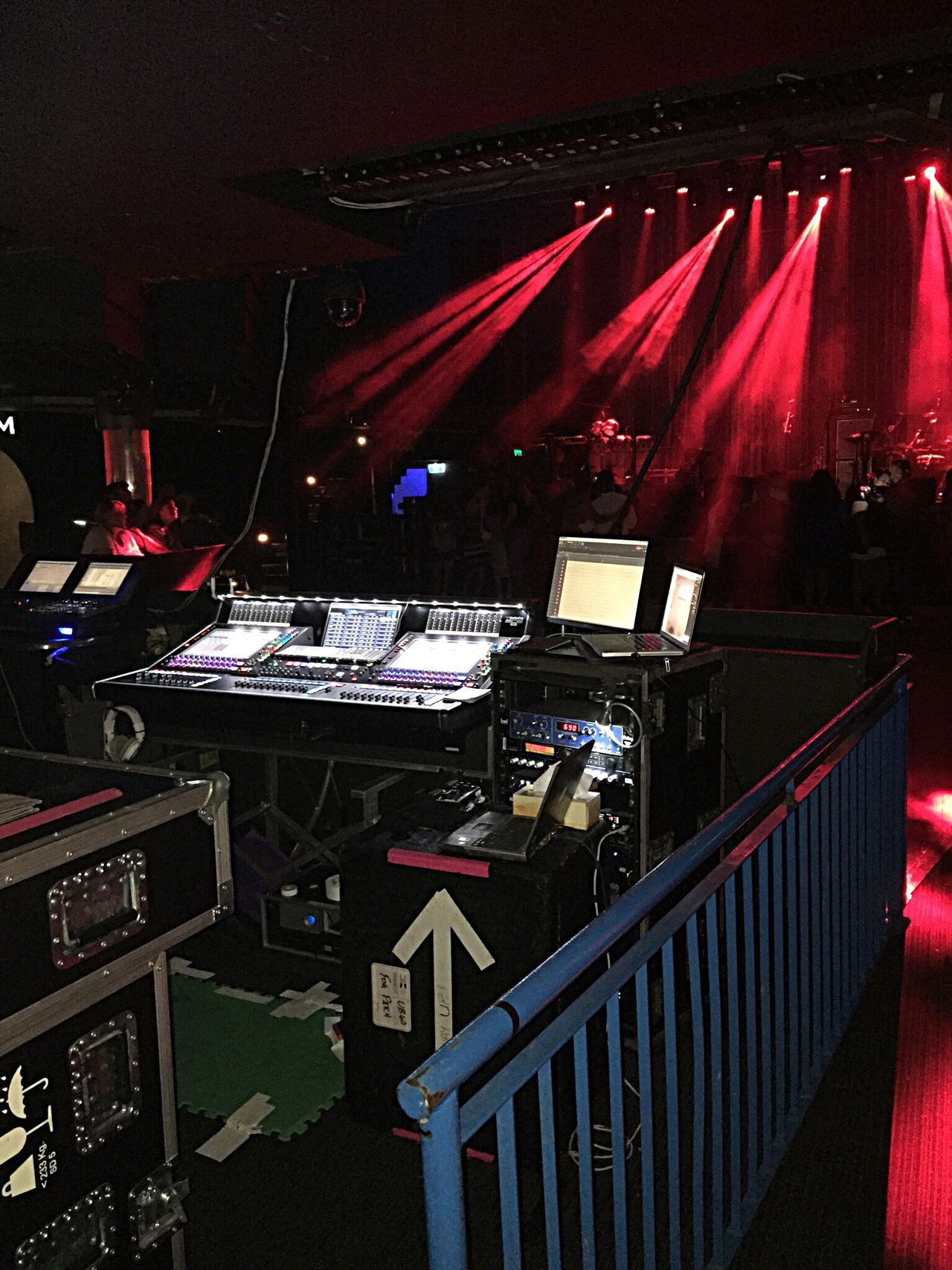 Music Equipment: Waiting for the Band Concert Equipment Sound Board Mixing Console Mixing Sound Mixing Equipment Concert Equipment Sound System Sound Check Waiting For Band Music Live Music Lights Concert Lights Band Set Up Concert Photography Concert Hall  Rock Concert