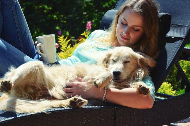 Dog Animal Maniek Lovethisdog Spring Sunny Coffee Flowers Almostholiday