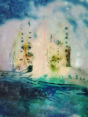 encaustic at south padre island by mary jane manion