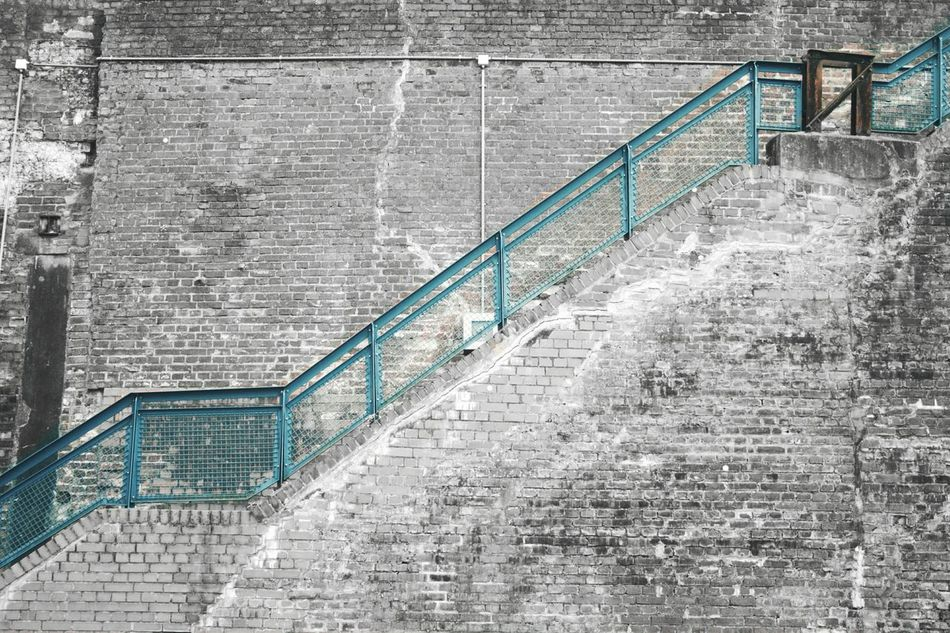 Steps And Staircases Staircase Steps Railing Architecture Day No People Outdoors Bochum City Westpark Cityscape Wall Wallart Wallpaper Wallbrick Brick Wall Brick Blue Blackandwhite Grey Steps Stair Break The Mold