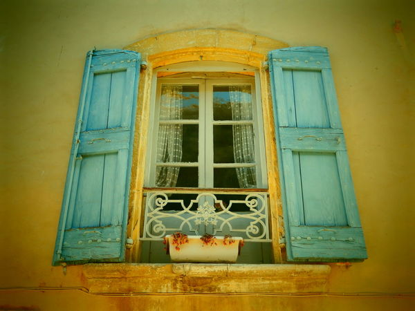 In the heat of summer Window Frame Architecture Building Exterior Curtains Summer Time  Summer Colours Window Sill Dried Plants Provence Wooden Shutters Low Angle View
