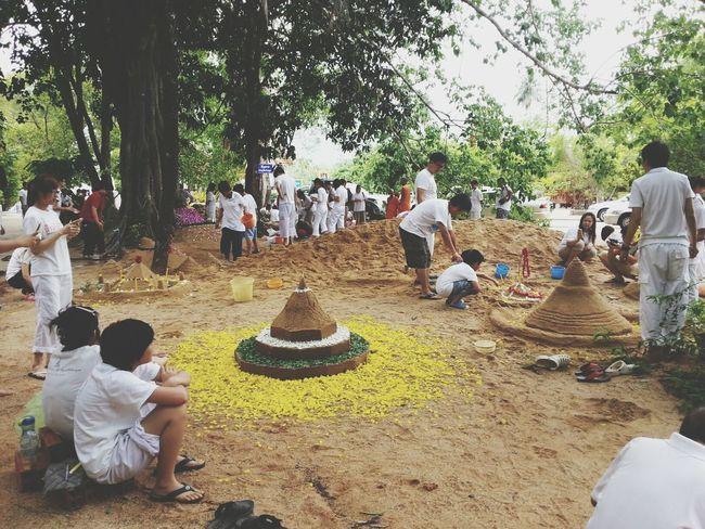 Kanchaburi Watthakhanun Buddhist Temple in Thailand Songkran2014