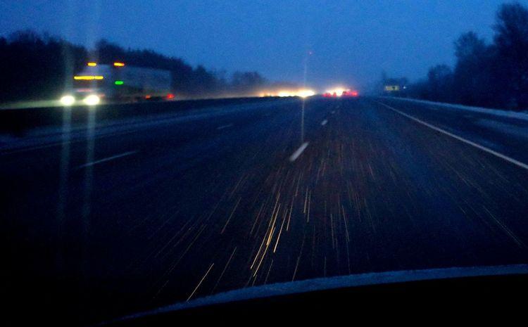 headlight reflections Snow Highway Transportation Illuminated Night Mode Of Transport No People Car Outdoors Motion Land Vehicle Road