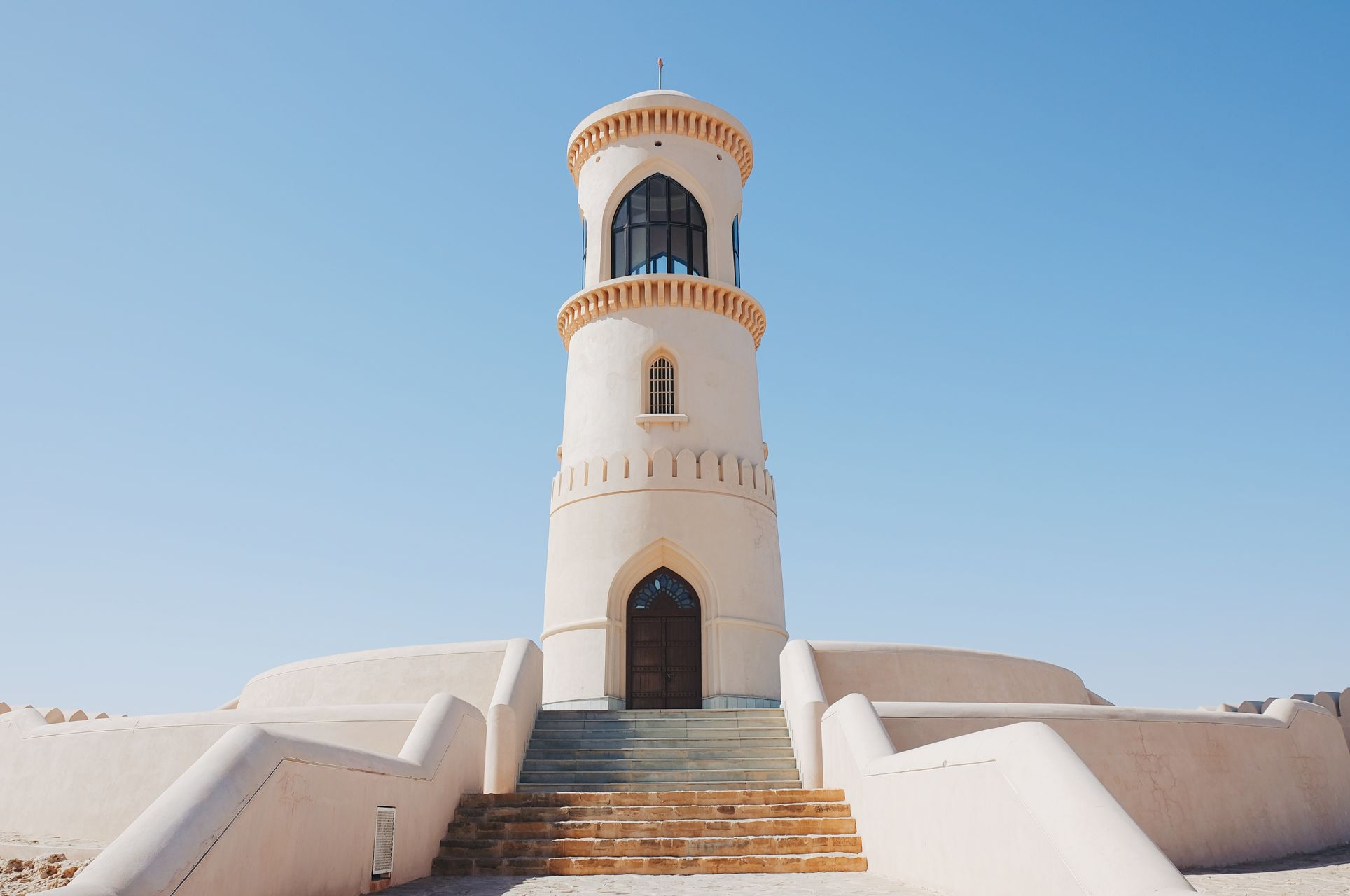 Lighthouse Oman Travel View Architecture blue building building exterior built structure Clear sky day history Low angle view no people oman_photography outdoor outdoors scenics sky summer tourism tower travel destinations Şūr