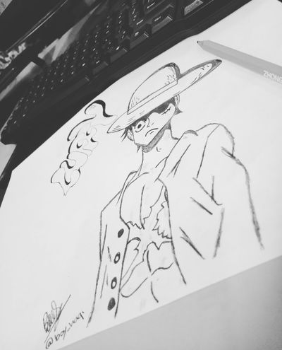 Drawing👐 Drawing - Art Product Creativity Drawing - Activity Pencil Drawing Sketch Day The Great Outdoors - 2017 EyeEm Awards Green Color Backgrounds Eyeemphotography Communication Indonesia_photography EyeEmNewHere First Eyeem Photo The Week On EyeEm OnePiece♥ Onepiecelover Onepiecefan