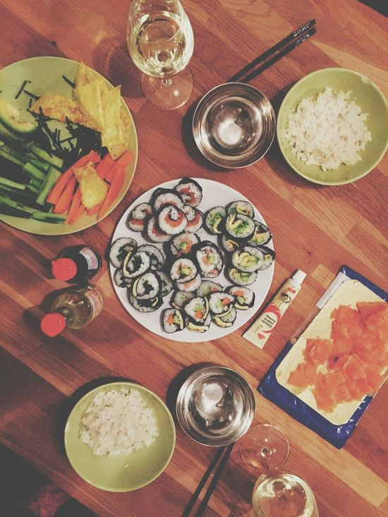 What's For Dinner? Sushi Sushi Time Food Homemade From Above