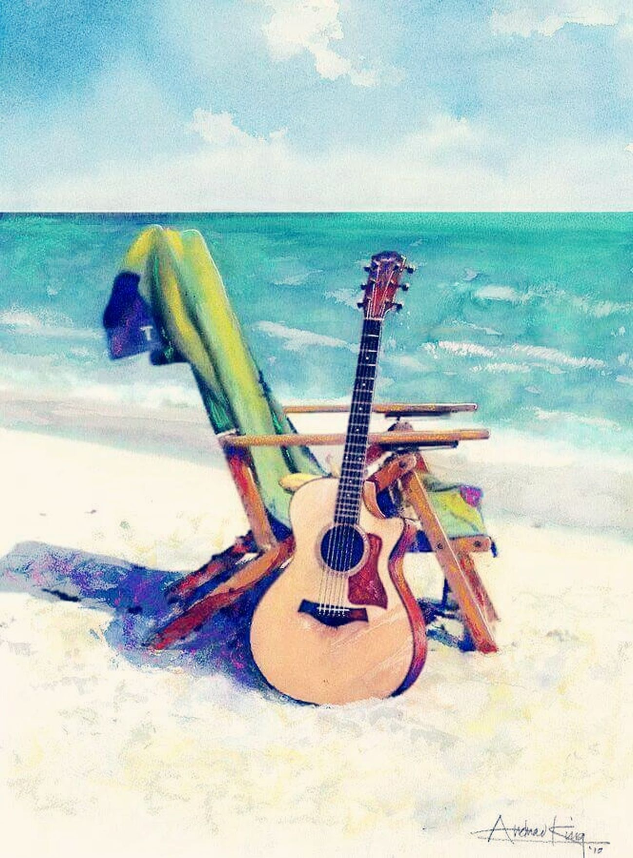 Beach&music Guitar, Diversión. OpenEdit Gallery EyeEm Gallery Enjoying Life Hi! Gold Series @txemabuenodaz Playa Del Sardinero, Santander. Hello World Taking Photos
