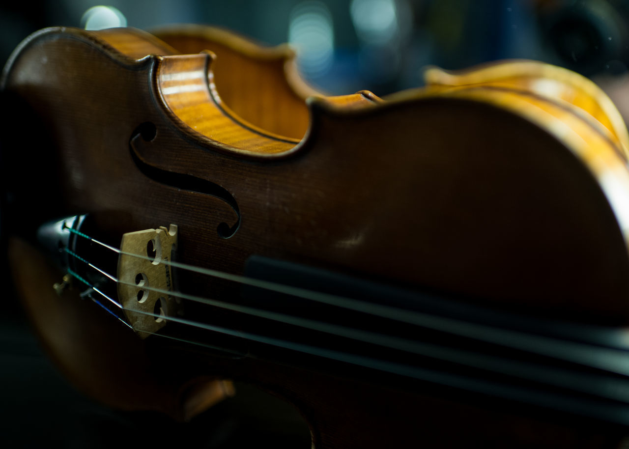 music, musical instrument, musical instrument string, arts culture and entertainment, string instrument, musical equipment, guitar, indoors, woodwind instrument, wood - material, close-up, fretboard, no people, violin, classical music, day