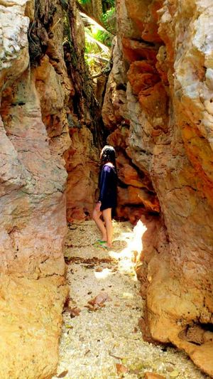 Eureka Between ... First time Feeling Happy being in between. Beautiful Rock Formations Beauty of Strata  Rocks Brown Stratum Loving Nature's Beauty Take Me Back Summer2015 Places I've Been Dinagat Islands