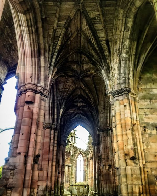 Architecture Arch Built Structure Low Angle View Building Exterior History Travel Destinations Tourism Famous Place The Past Day Outdoors Sky Arched Architectural Feature Façade National Landmark Arcade Medieval Melrose Abbey Arches