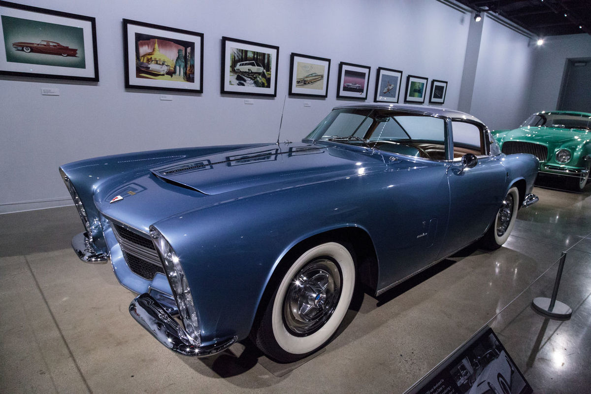 Los Angeles, CA, USA - March 4, 2017: Blue 1953 Dodge Storm Z-250 by Bertone from the collection of Fred Zeder gifted to the Petersen Automotive Museum in Los Angeles, California, United States. Editorial only. 1953 Antique Bertone Blue Blue Car Car Classic Car Day Dodge Fast Car No People Old Car Petersen Automotive Museum Storm Transportation Z-250