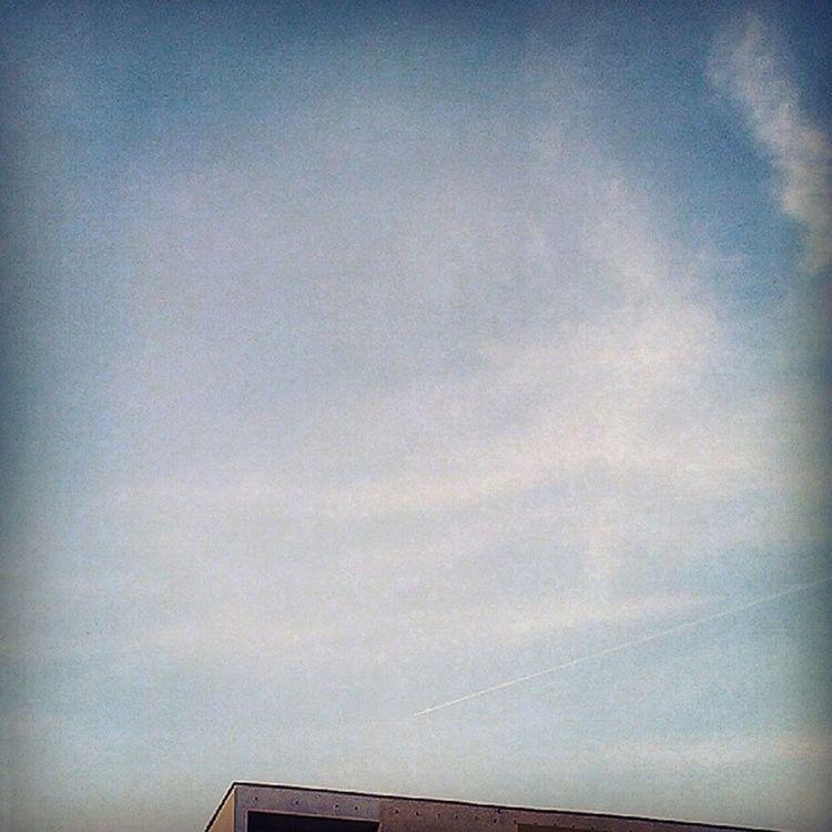 I wanna run away from here. Now. Trajectory Jetfighter Sky Evening blockofflats