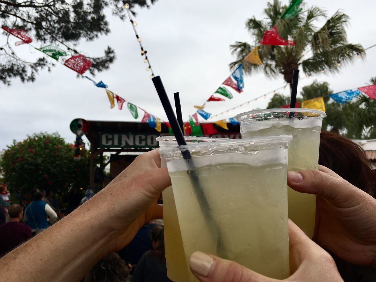 Cinco de mayo celebration with margaritas Human Hand Human Body Part Drink Real People Food And Drink Drinking Straw Holding Men Refreshment Leisure Activity Tree Lifestyles Day Drinking Glass Sky Focus On Foreground Outdoors Women Alcohol One Person Cinco De Mayo Margaritas Visual Feast