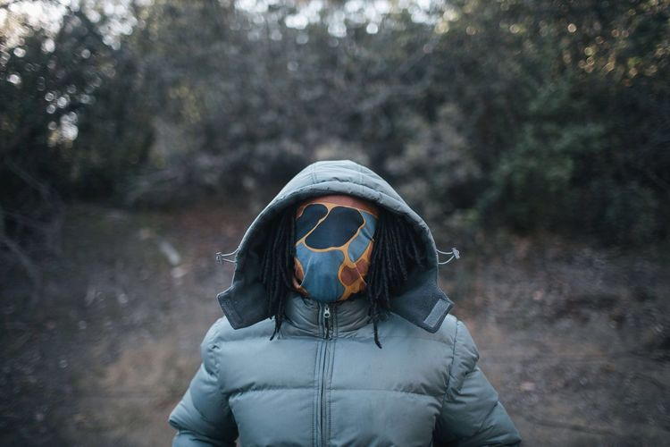 Man Portrait Wilderness Facecovered