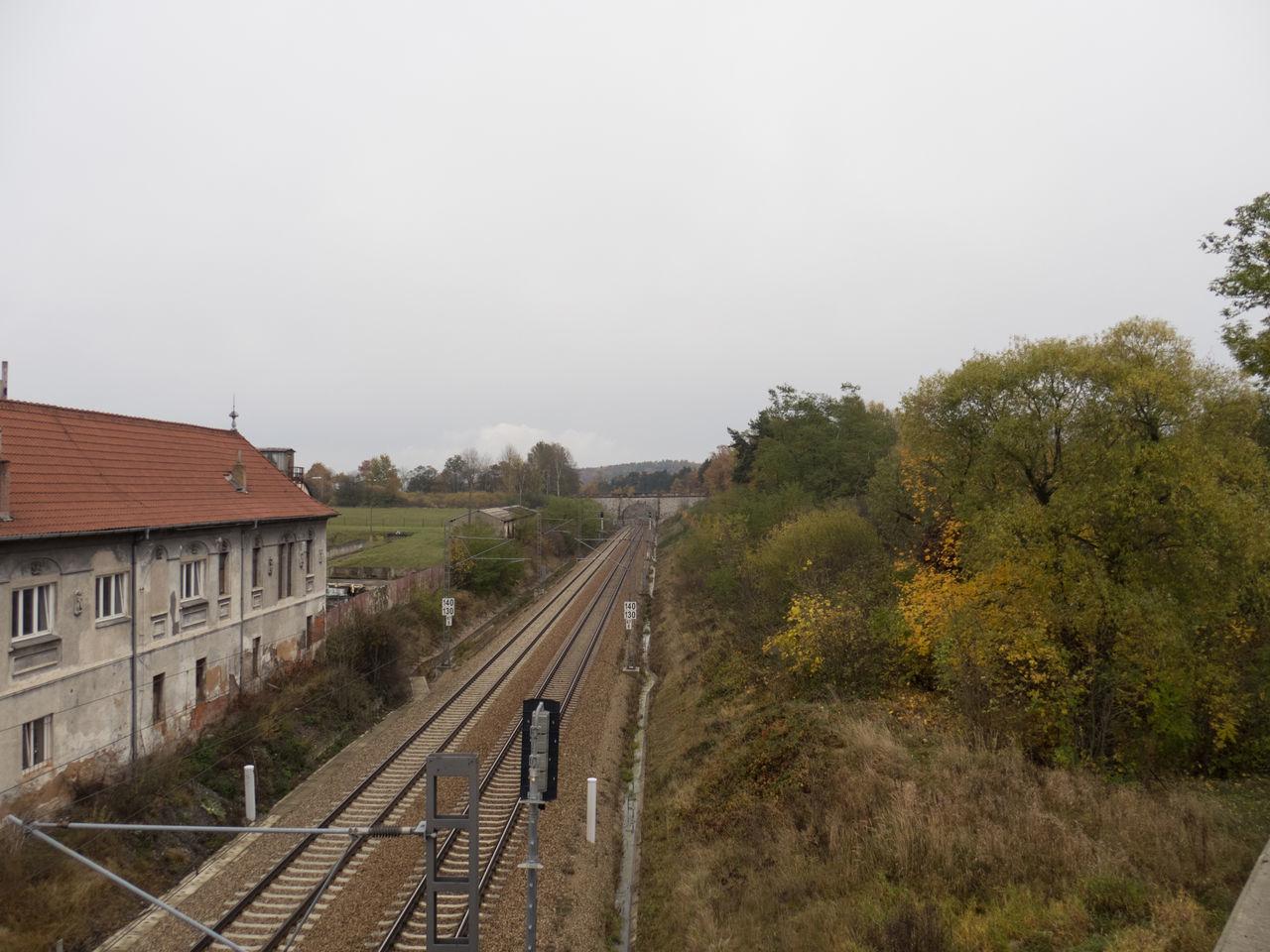 Fall Fall Colors Lines The Way Forward Train Train Station Train Tracks